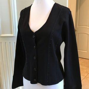 Sweaters - Nwt Nancy Bolen City girl black sweater